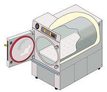 mapeo de humedad y temperatura para autoclave