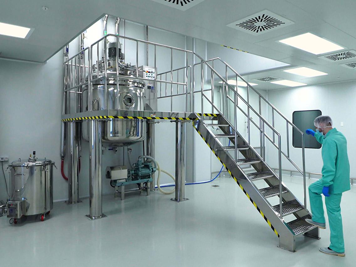 Área de laboratorio para certificación de cuartos limpios