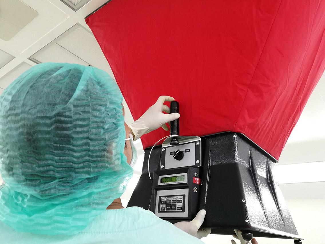 Proceso de certificación de cuartos limpios